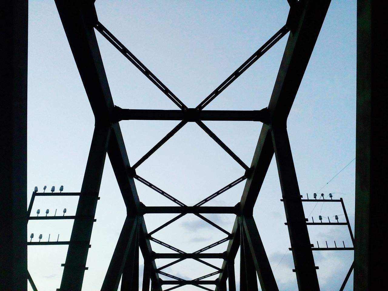 low angle view, architecture, built structure, day, sky, no people, bridge - man made structure, clear sky, outdoors