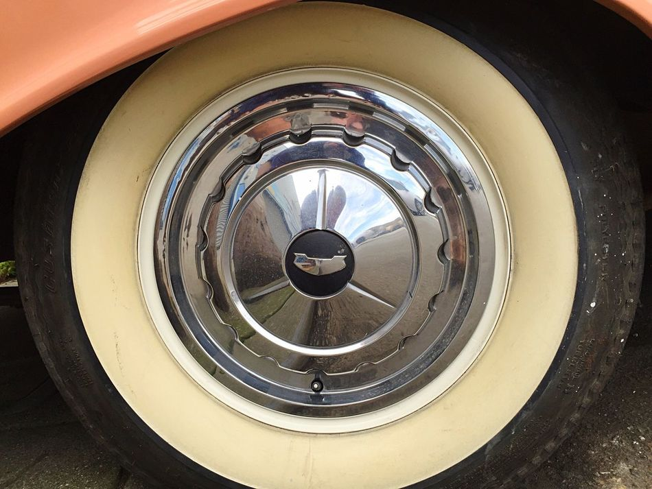 Chevy Chevrolet Open Edit Vintage Cars Detailing Hub Cap White Wall Whitewalls