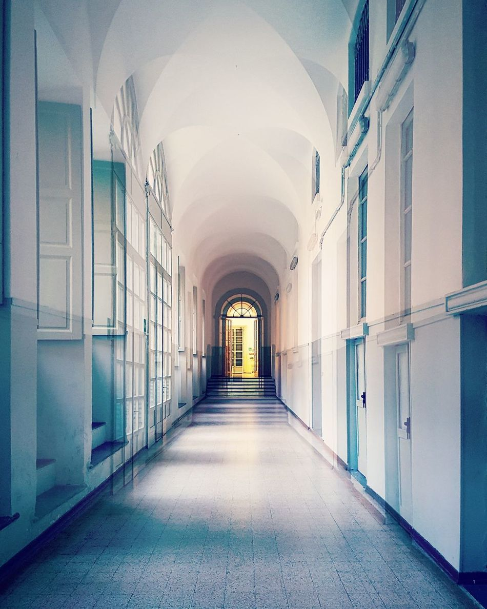 Corridor Indoors  Arch The Way Forward Built Structure Architecture Week On Eyeem EyeEmNewHere The Secret Spaces Empty Architecture_collection Architecture Double Exposure Doubleexposure Experimental Photography Cut And Paste