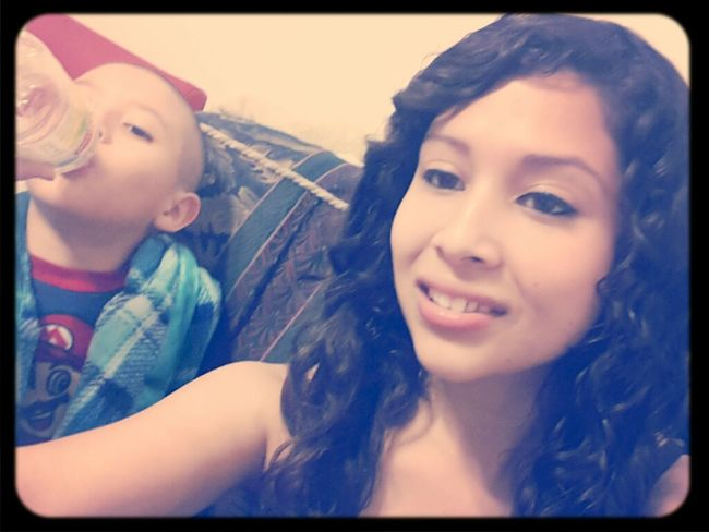 bby cousin holding me down after my life being turned around for a while....im just thankful im okay now...God is BIG ♡