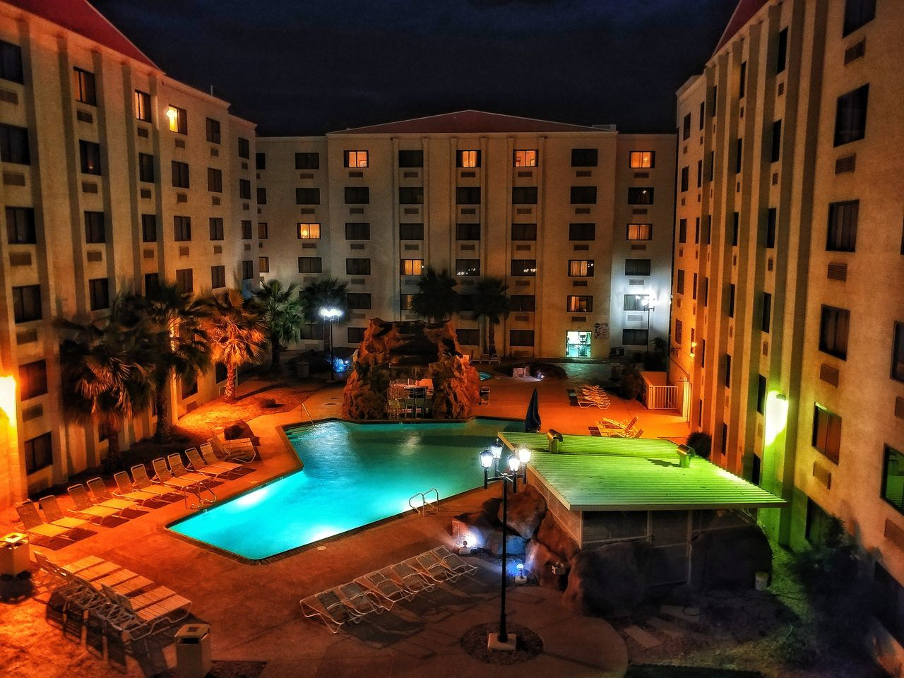 USA Photos Night View Nightshot Travel Night Lights Night Vision No People Hotel Outdoors Pool Architecture Nighttime Nightphotography Night Streamzoofamily Streamzoofamily Friends Live For The Story The Architect - 2017 EyeEm Awards