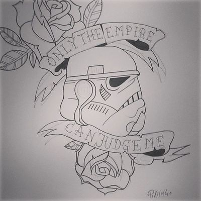 +ONLY+THE+EMPIRE+CAN+JUDGE+ME+ Stormtrooper Starwars Drawingtime Drawing pixiiart artbypixii malen zeichnen tattoosketch roses mynewtattoo mafeforme oldschool