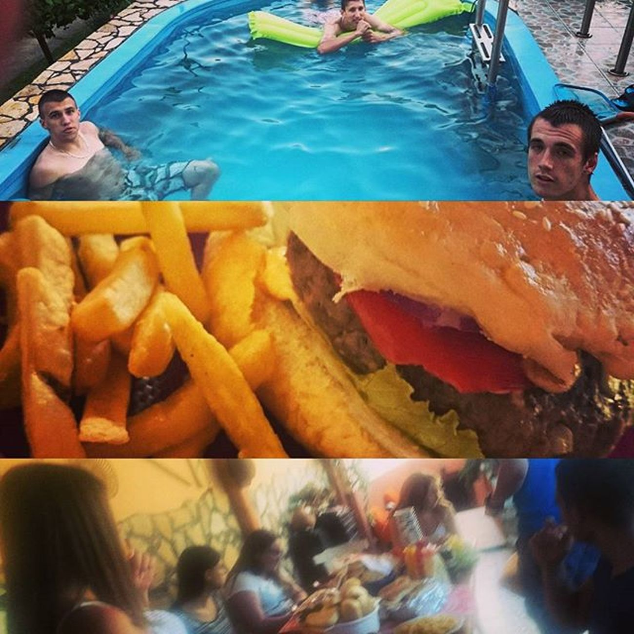Volt egy hamburgerezés. 🍔 🍟 🍻 🍷 Aztán hangzavar! :-D Latergram Hamburger Frenchfries Food Poolparty Pool Partytime Party Locapeople Crazy Past_memories Past_time Instamemories Instamood Feelgood Instafood Ig Ighun Instagram Juicylucy