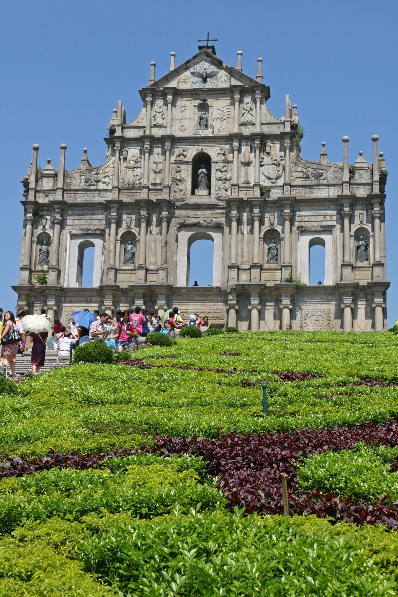 Architecture Built Structure China Facade Building Flower History Macao  Monument Portuguese Tourism Tourist Travel Destinations
