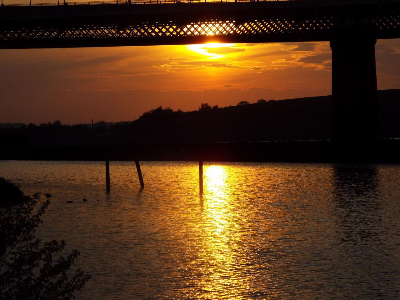 Sunset Runcorn Bridge Bridge Runcorn Railway Bridge Two Bridges Architecture Steel Structure  River Mersey River Water Sky - Clouds Silhouette Silhouette Of A Bridge Red Sky Red Sky At Night... Red Sky At Sunset 43 Golden Moments