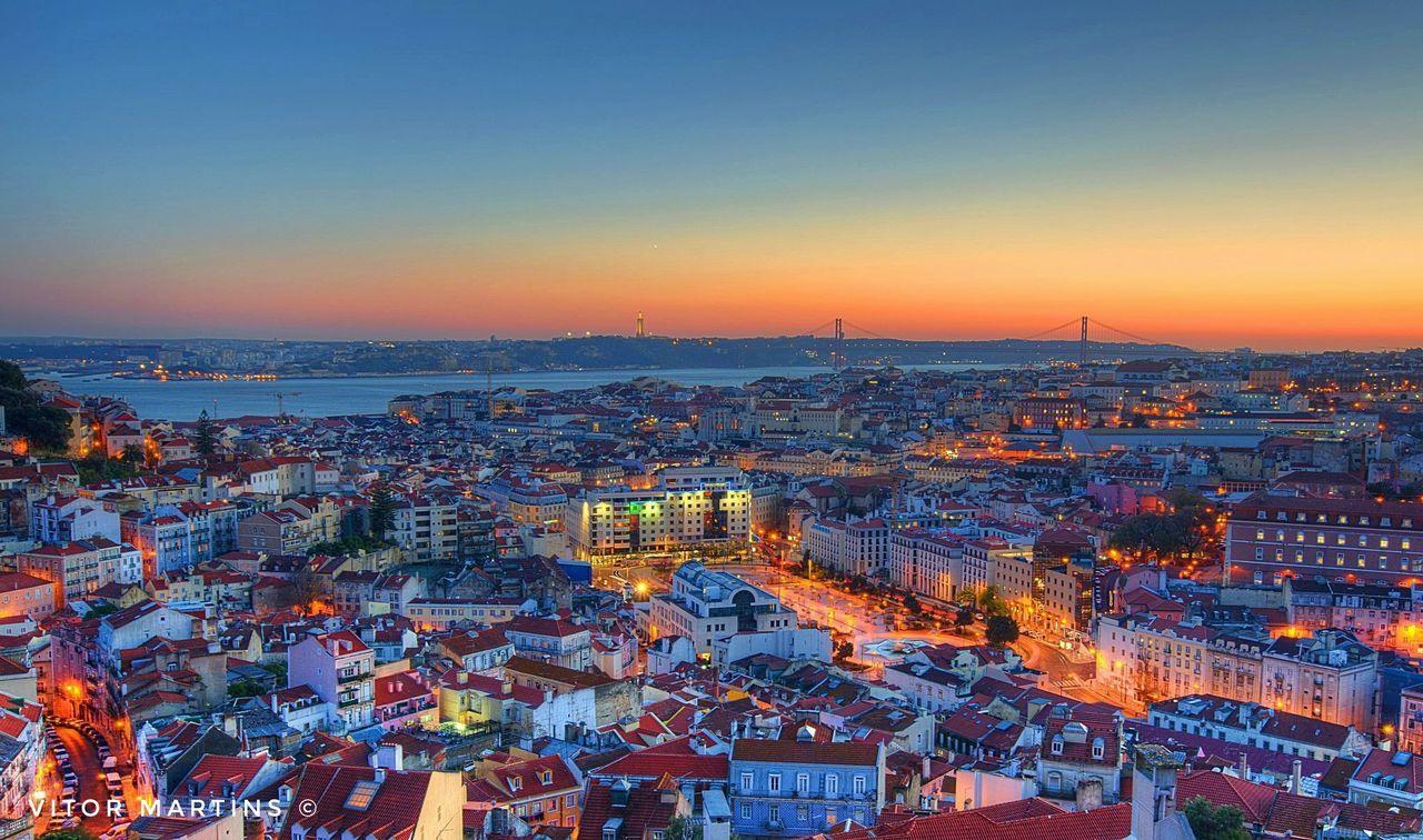 Cityscape Travel Destinations Sunset Skyscraper Lovecity  Illuminated Portugal First Eyeem Photo Liboaalive