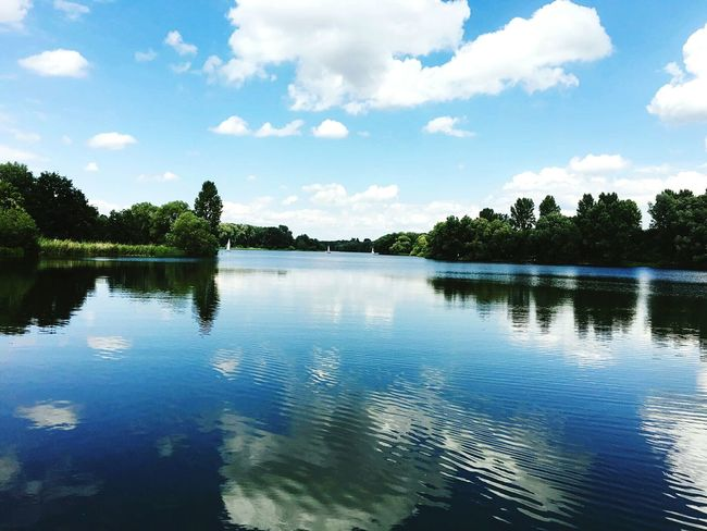 Südsee Swimming Beautiful Day Lovely Weather Peace And Quiet Relaxing Enjoying The Sun Quality Time Lake View Lakeshore Panoramic Photography Brunswick Braunschweig