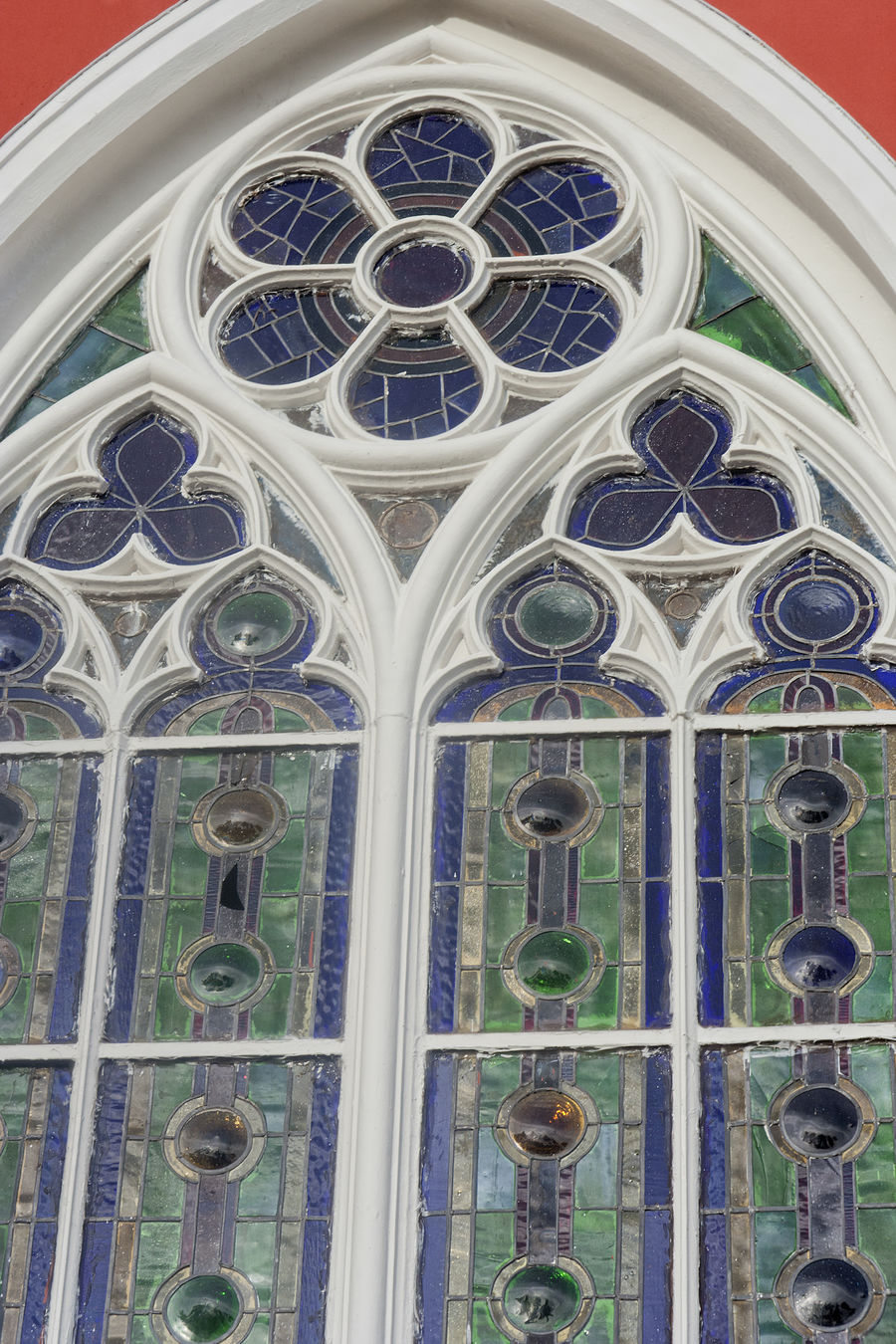 Window of Cathedral de la Mercedes - Grecia, Costa Rica Arch Architecture Architecture And Art Building Building Exterior Cathedral Cathedral De La Mercedes Christianity Church Church Window Close-up Costa Rica Grecia Low Angle View No People Pattern Place Of Worship Religion Rose Window Single Object Spirituality Stained Glass Stained Glass Window Travel Destinations Window