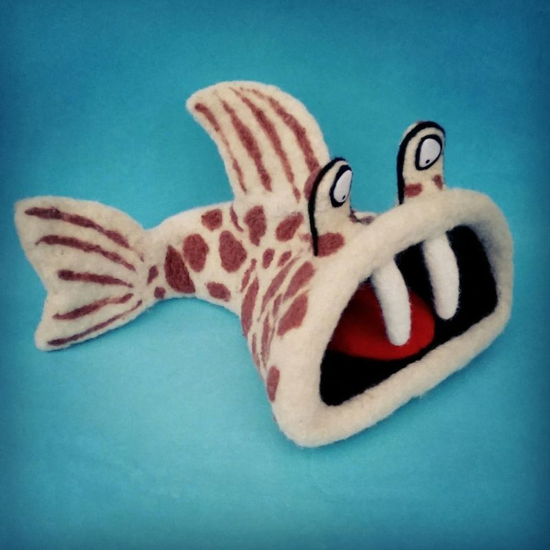 Fish Toys ArtWork Art, Drawing, Creativity Felting Feltdolls Wool Fantasy Fishes Needlefelting