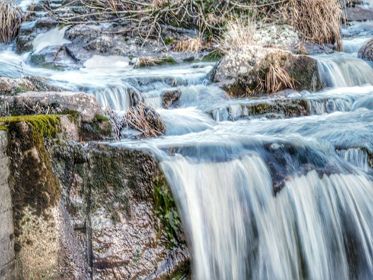 Water Waterfall Flowing Water Motion Long Exposure Nature Flowing Beauty In Nature No People Scenics Outdoors Splashing Day Close-up Beauty In Nature Winter Nature Outside