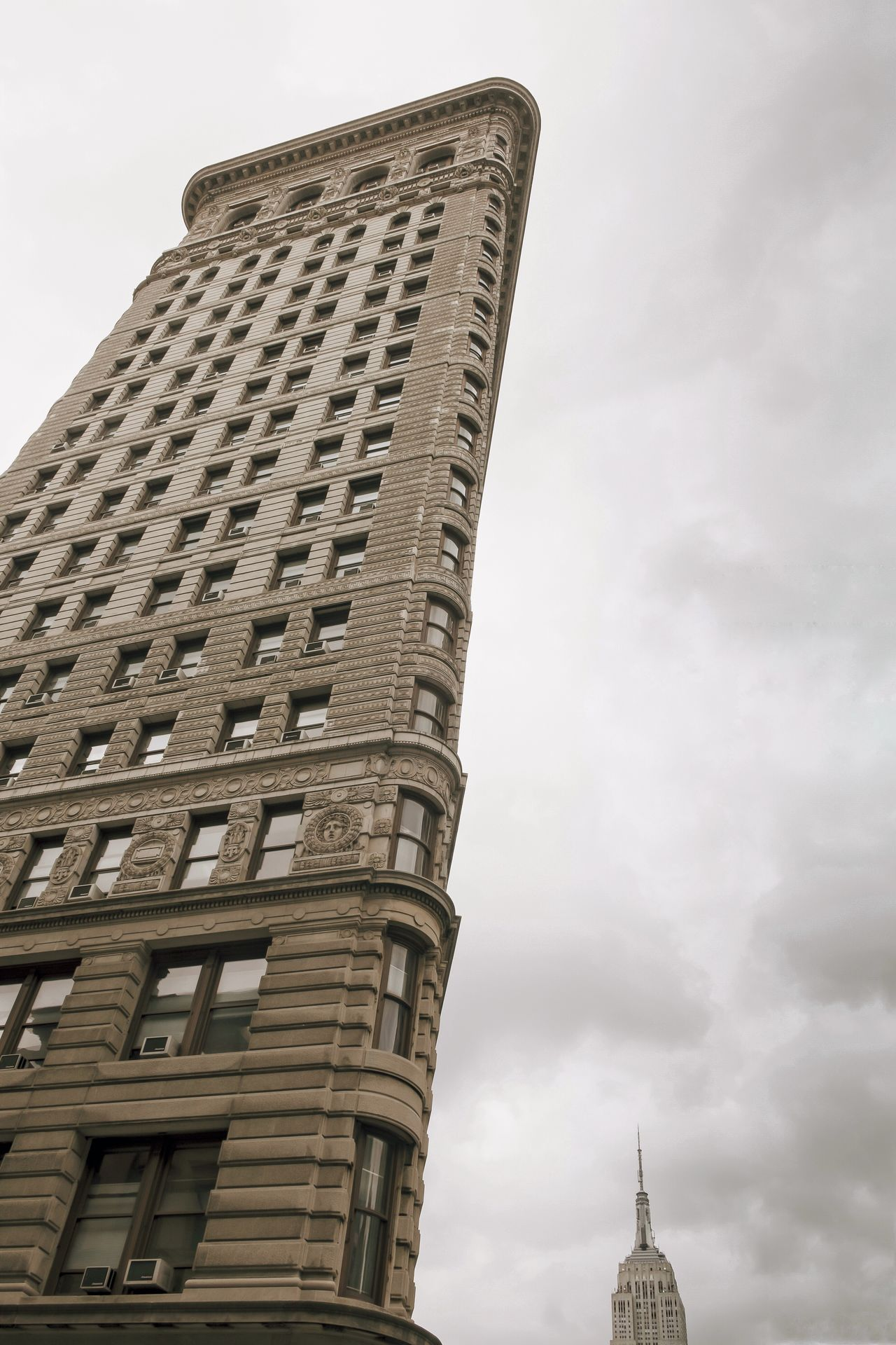 New York reloaded // Architecture Building City Cityscapes Cloud Clouds And Sky Empire State Building Famous Place Famous Places Flatiron Building Grey International Landmark Low Angle View New York Office Building Sky And Clouds Skyscraper Tristesse Windows