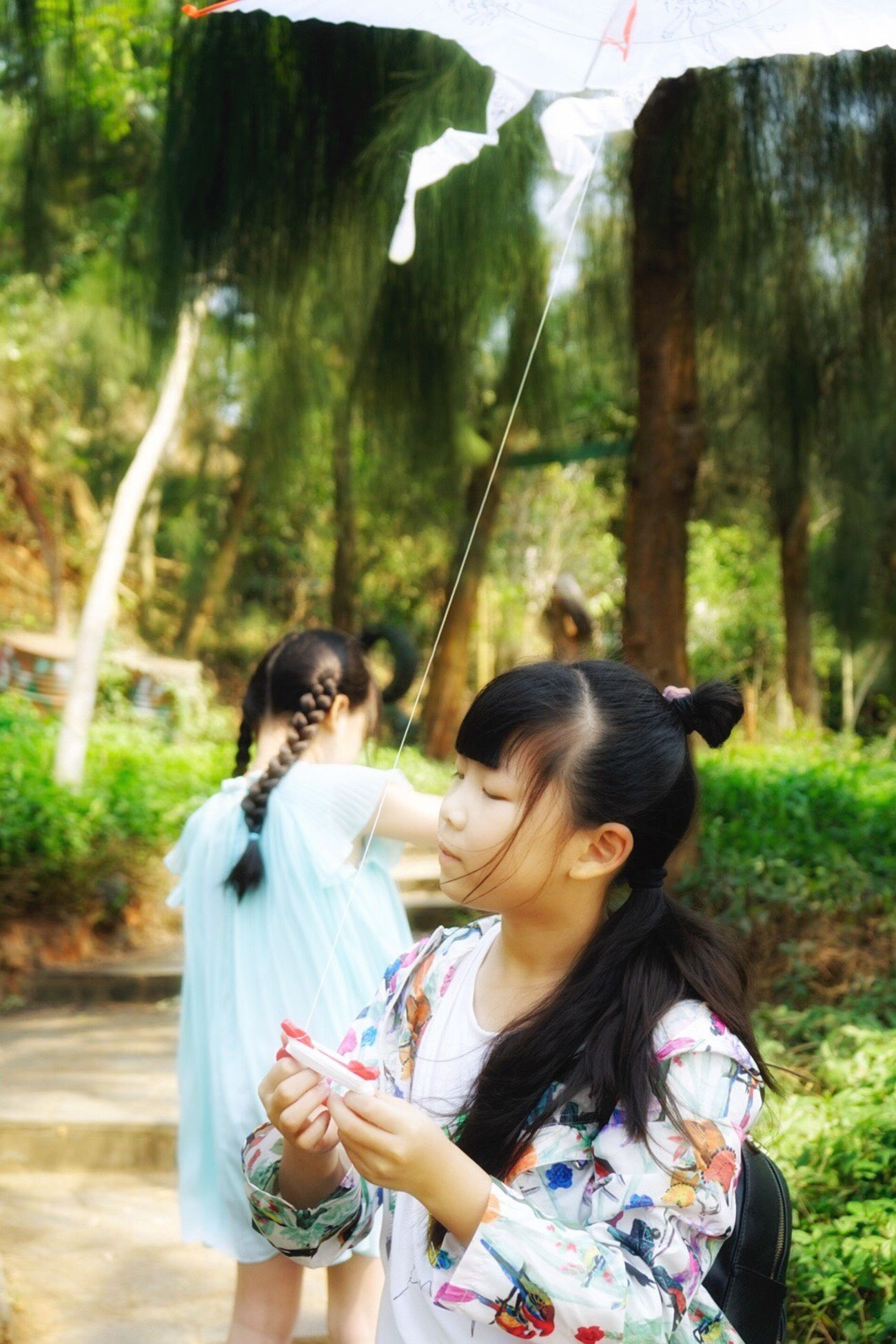 My little fairies❤️ Forest Women Young Adult Nature Young Women Standing Group Of People Females Flying A Kite Summer Smiling Outdoors People Day Tree Adult Adults Only Togetherness Childhood