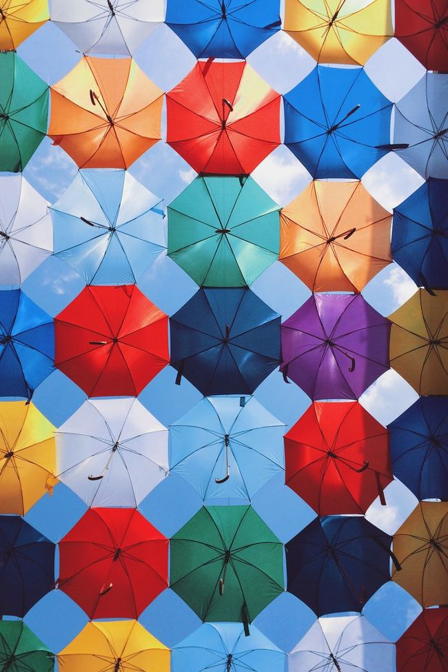 Under umbrellas... Taking Photos Vscocam Relaxing Having Fun Hanging Out Check This Out Enjoying Life Hello World EyeEm Best Shots Eye4photography  Made In Romania ShotOnIphone Shotoniphone6splus Fun Streetphotography Traveling Summer Sun Summertime Outdoors IPhoneography Pattern Pieces Umbrella Sunny Day