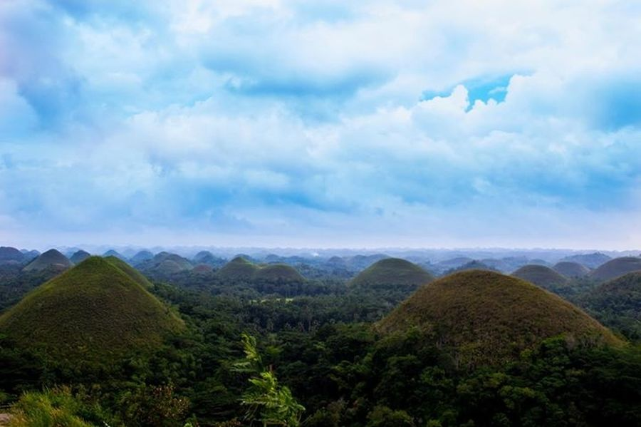 Bohol Philippines Chocolate Hills Blue Sky Sea Of Sky Beauty In Nature Landscape Nature