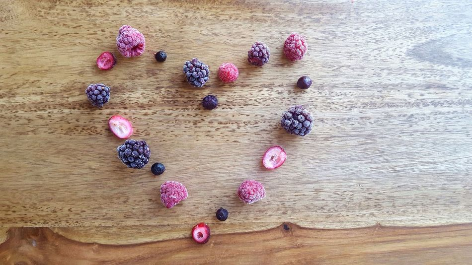 High Angle View Directly Above Table No People Indoors  Close-up Food Variation Large Group Of Objects Day Berrys Fruits Heart Heart Shape Love Food And Drink Healthy Eating Healthy Lifestyle Healthy Healthy Food Millennial Pink