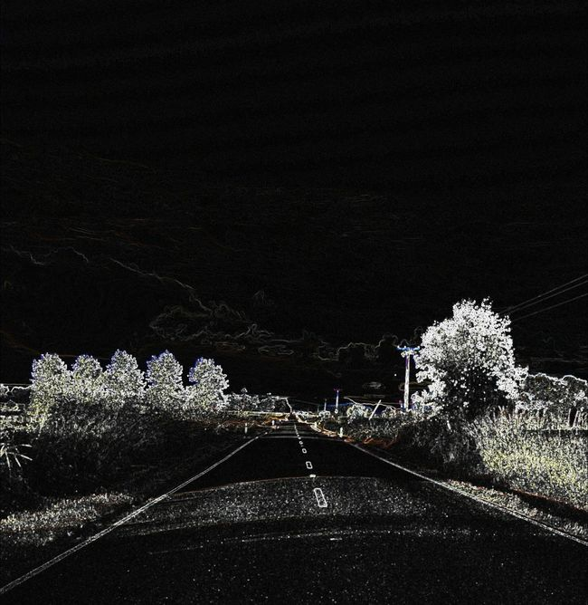 Lone Road Road At Night Night Time Road Black Road Straight Road Abandoned Highway Night Road Highway