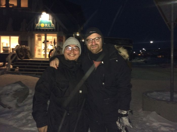 Cold Temperature Night Snow Winter Two People Me Internet Personality Top10facts Youtuber Dave Dave&Jonh Greenland Ilulissat Cold Tourism Building Street Fun Giving A Tour Voted Dave Freezing being a guide pays off sometimes