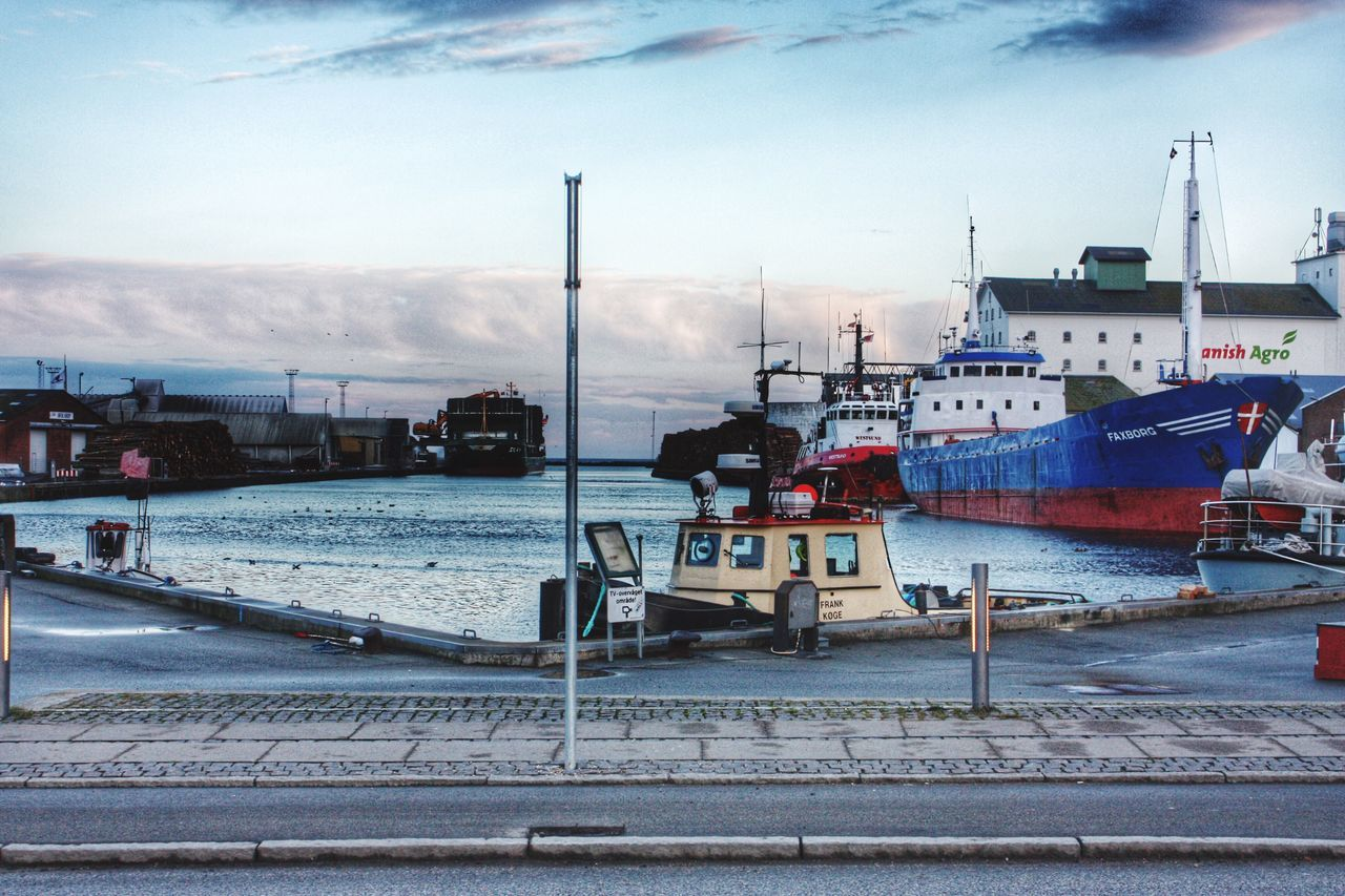 Danmark Nautical Vessel Harbor Sky