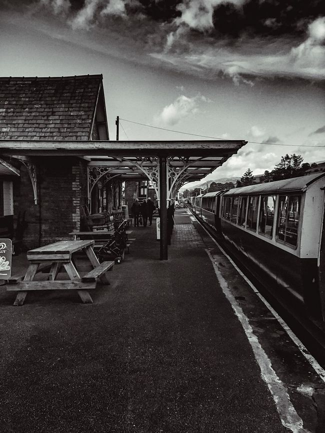 EeyemBestPhotography Transportation Railroad Track Sky Cloud Day Outdoors Cloud - Sky Nikond3300 Eeyemgallery Monochrome Photography Black And White Wales Holiday Nikonphotography Nikonphotographer Nikon Monochrome Blackandwhite EeYem Best Shots Monochromatic Wales❤ Eeyem Photography Eeyem