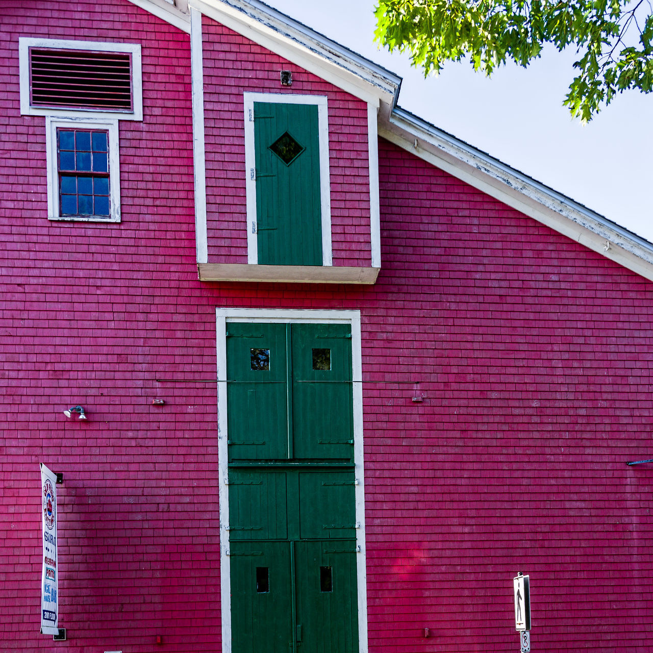 Architecture B Green Doors Lines And Shapes Lunenburg, NS, Canada Relaxing