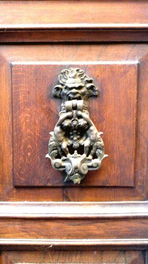 Battacchio Door Grottesco Leone Battente Art And Craft Outdoors Door Knocker Day Lion - Feline No People