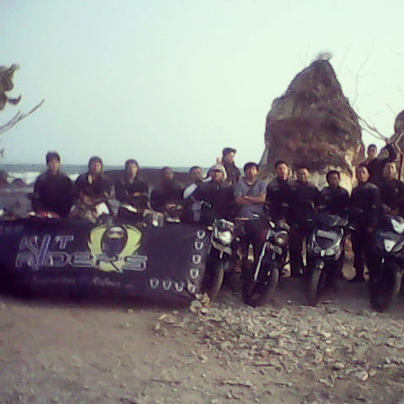 KIT Riders on Tanjung Layar Sawarna Beach - Indonesia Journey Adventouring Touring Community Bikers_network Bikerslife Biker Bikerindonesia Instapict Tanjunglayar Sawarna Sawarnabeach Nusantararide Jelajahindonesia Jelajahnusantara Jelajah_indonesia Ride Motorcycle