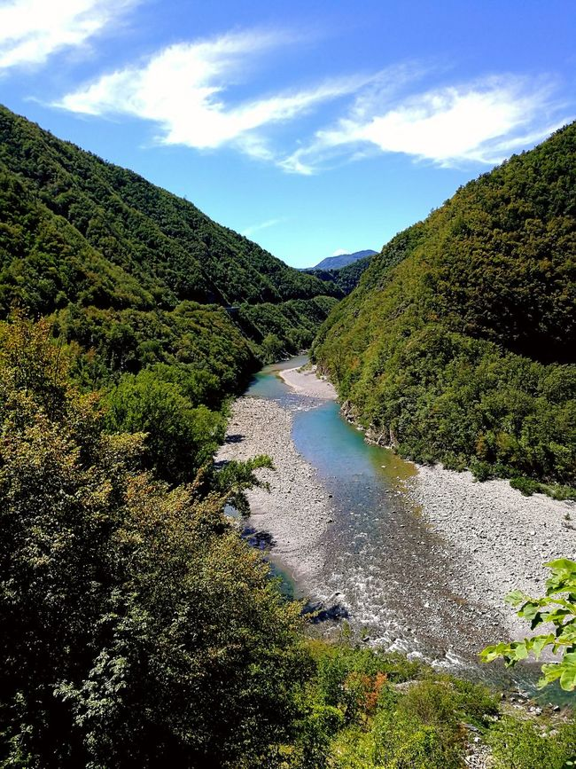At the river Trebbia - Nature Tree Green Color Beauty In Nature Sky Landscape Outdoors Tranquility River No People Clouds Bobbio Life Point Of View Italy Trebbia