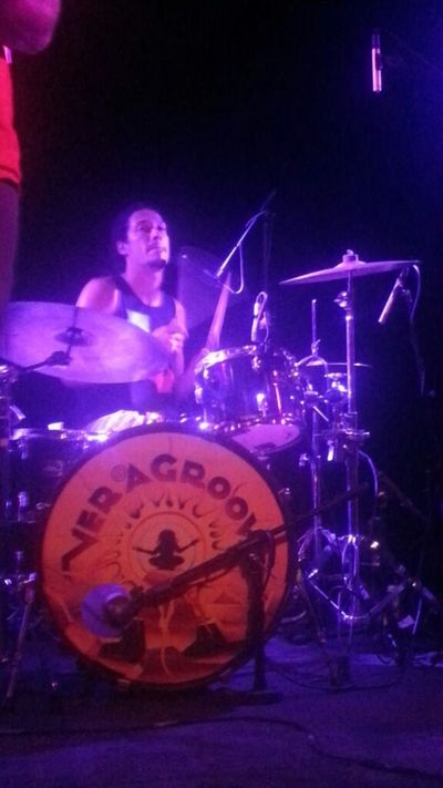 Thrive's Ken Rogers behind the kit. Concert Phoenix Reggae Thrive