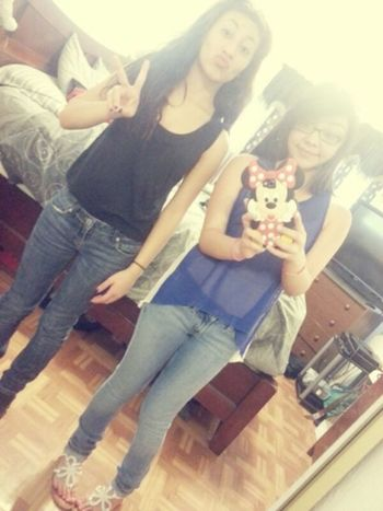My sister and I. ♡