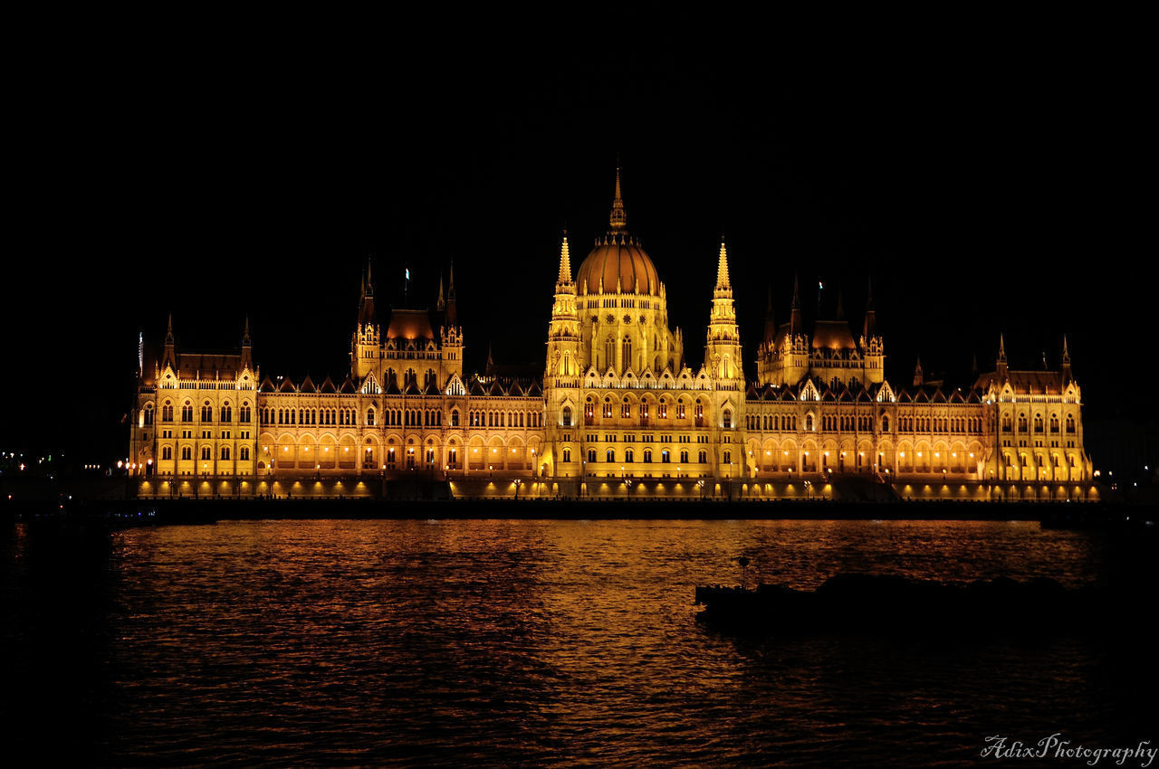 architecture, night, building exterior, built structure, illuminated, travel destinations, water, waterfront, tourism, no people, travel, outdoors, river, government, sky, chain bridge, politics and government