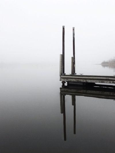Reflection Nature Blackandwhite Fog