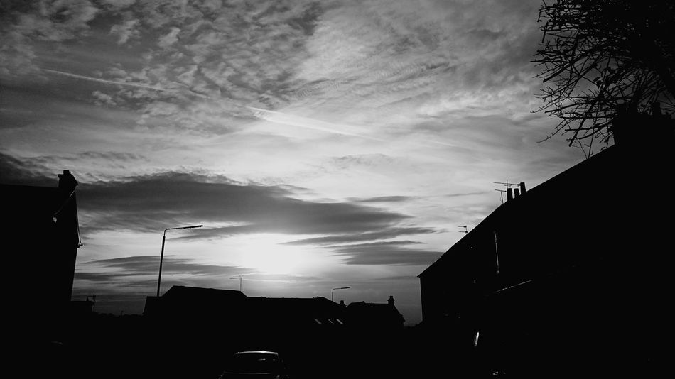 Sunset And Clouds  Black And White Photography Sunday Night Loving Life!