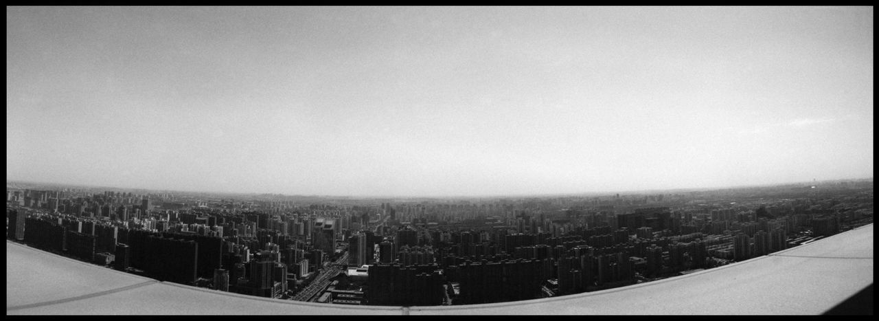 The Urbanity of Beijing ASIA Analogue Photography Beijing Beijing View CCTV Broadcasting Building China TV City Panoramic Beijing From Above Black And White China Concrete Contrast Metropolis No People Urban Viewpoint Beijing