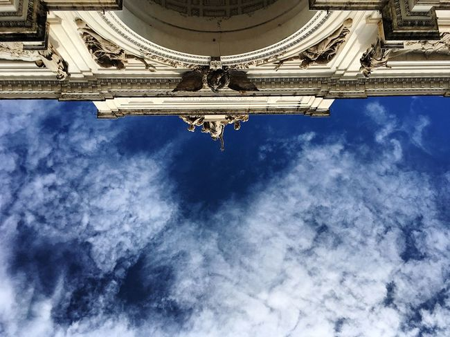 Rhome ❤️🏠 Architecture Sky Building Exterior Built Structure Cloud - Sky Blue Low Angle View Cloud Day Outdoors Cloudy Monument History Italy Myitaly Traveller Travelling Journey Cloudy MadeinItaly Roma Rome Rome Italy Romestreets
