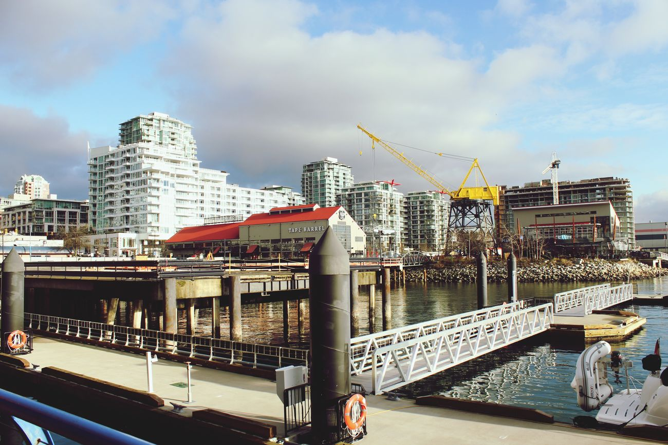 Quay Lonsdale Lonsdalequay Northvancouver Northvan Boardwalk Vancouver Travelbc Oceanside Ocean Water Sky