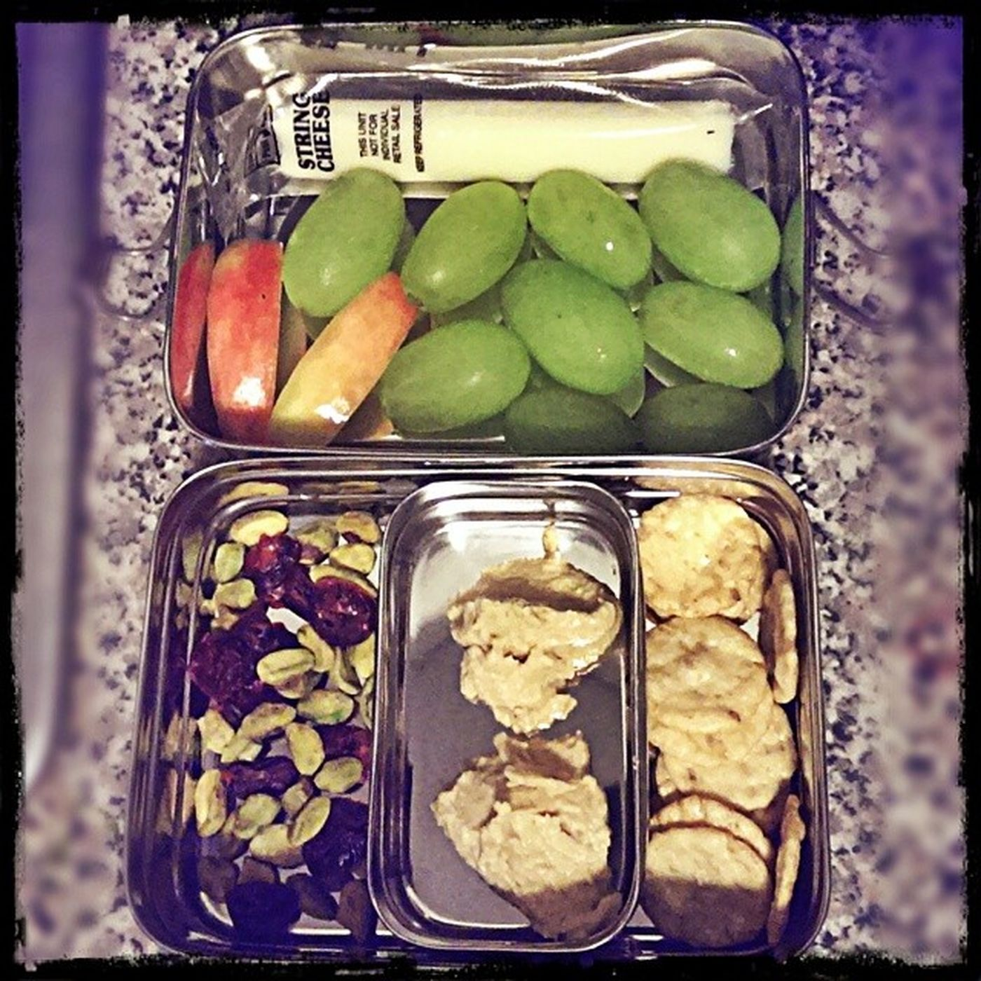 My SnackAttack for tomorrow. Trying to not eat out as much. Need to save up for that future Tinyhouse also, trying to make Healthier choices. Tues-thurs. I don't eat lunch at all, or even breakfast. If I do eat lunch it's usually jack in the box or mickey d's. No more. Time for more concious choices. Habits won't form overnight. But so far I'm two for two. I even cooked dinner last night and had leftovers today.