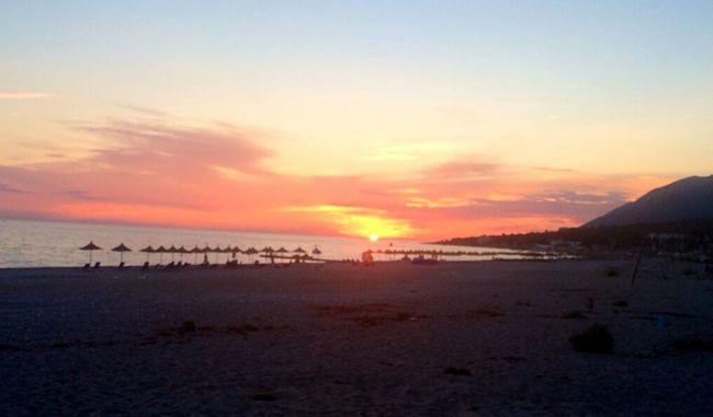 Summer Views I ❤️ Albania Beautiful Albania Sun Sunset Enjoying Life Dhërmi Seaside Albanian Beauty Albanian Riviera