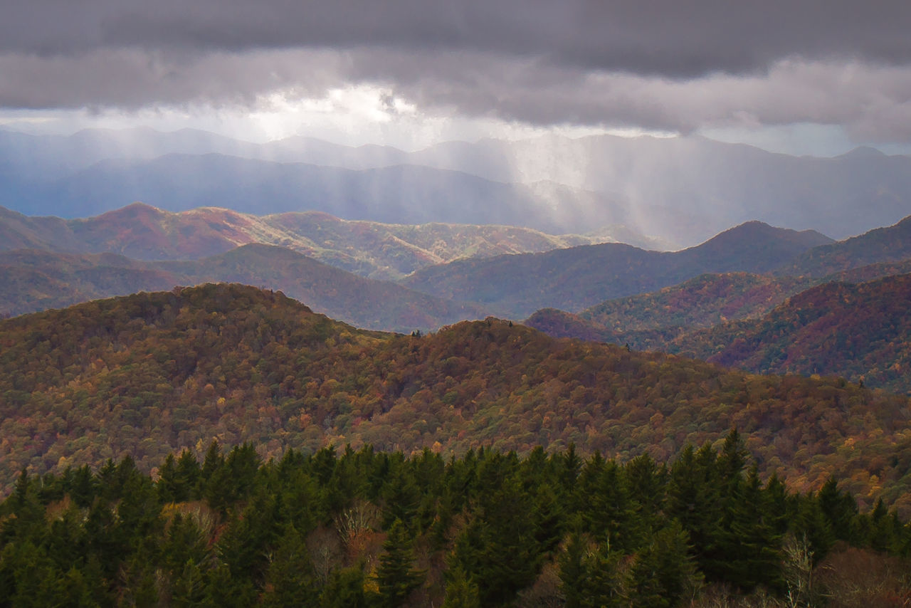 Beauty In Nature Blue Ridge Mountains Blue Ridge Parkway Cloud - Sky Day Mountain Mountain Range Nature No People Outdoors Scenics Sky Storm Cloud Tranquil Scene