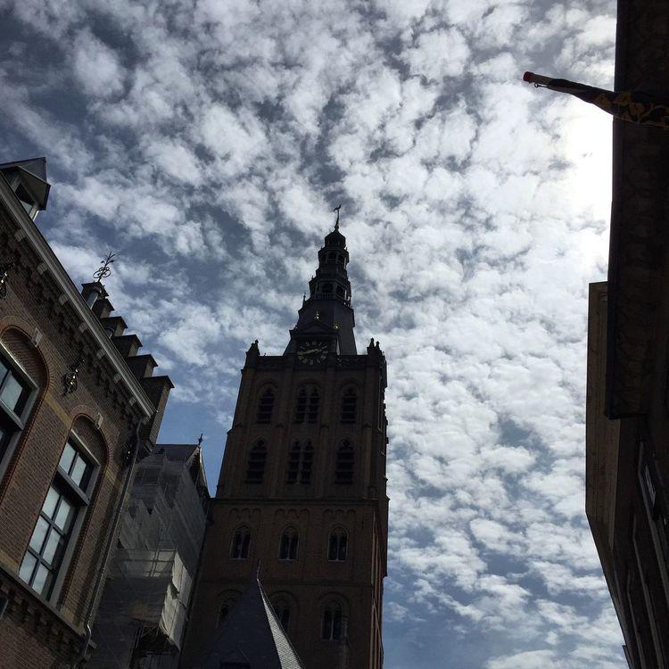 Sightseeing Den Bosch Shertogenbosch Architecture Church Blue Sky Netherlands Sightseeing Clouds