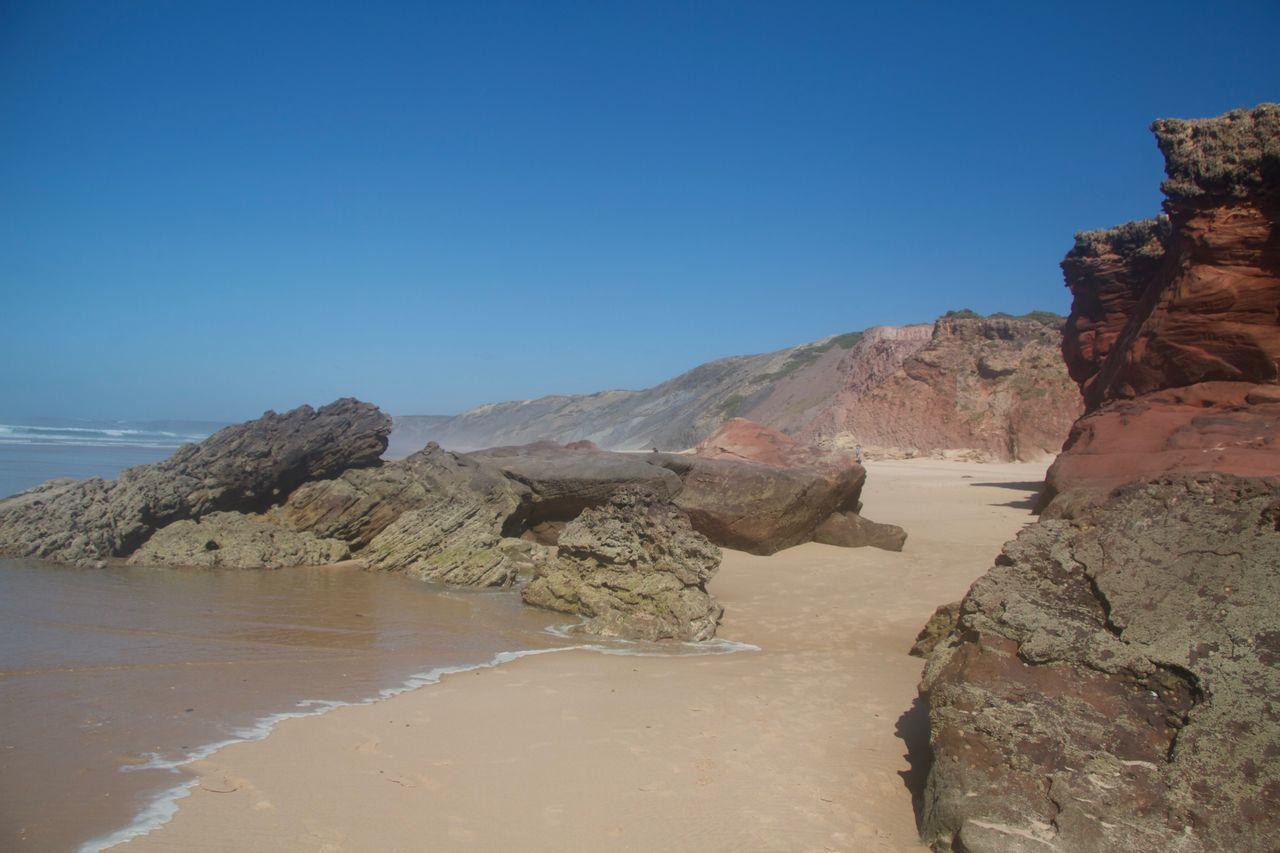 Plage Aljezur dans la région Algarve du Portugal. Plages Du Portugal Aljezur Algarve Portugal Plage Algarve