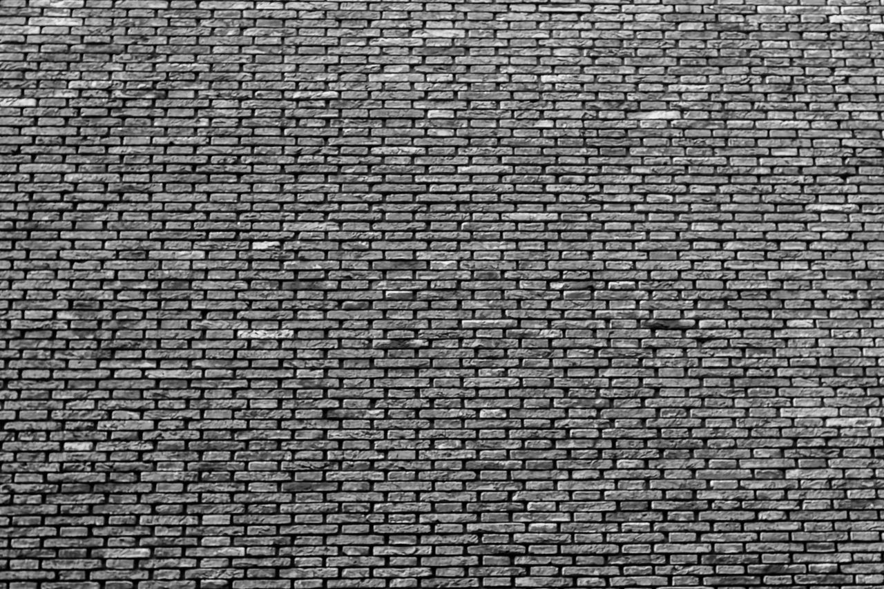 Backgrounds Full Frame Pattern Textured  No People Day Outdoors Close-up Brick Wall Bricks Architecture Brick Building Brick Blackandwhite Black And White