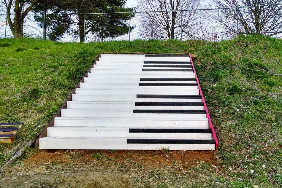 Piano Staircase Stairstonowhere Stairs Artpark Ix Art Park Charlottesville Artist Piano Stairs by Katherine Sigman & Matthew Merkle Artinplace Myfavoriteplace Virginia Eyeemphoto