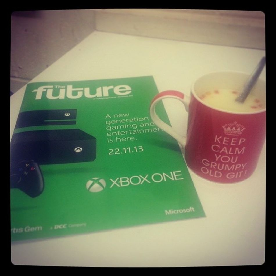 Xbox one launch sponsored by cup a soup... a must with a cold! XboxOne Nextgen Microsoft Cold cupasoup medicine
