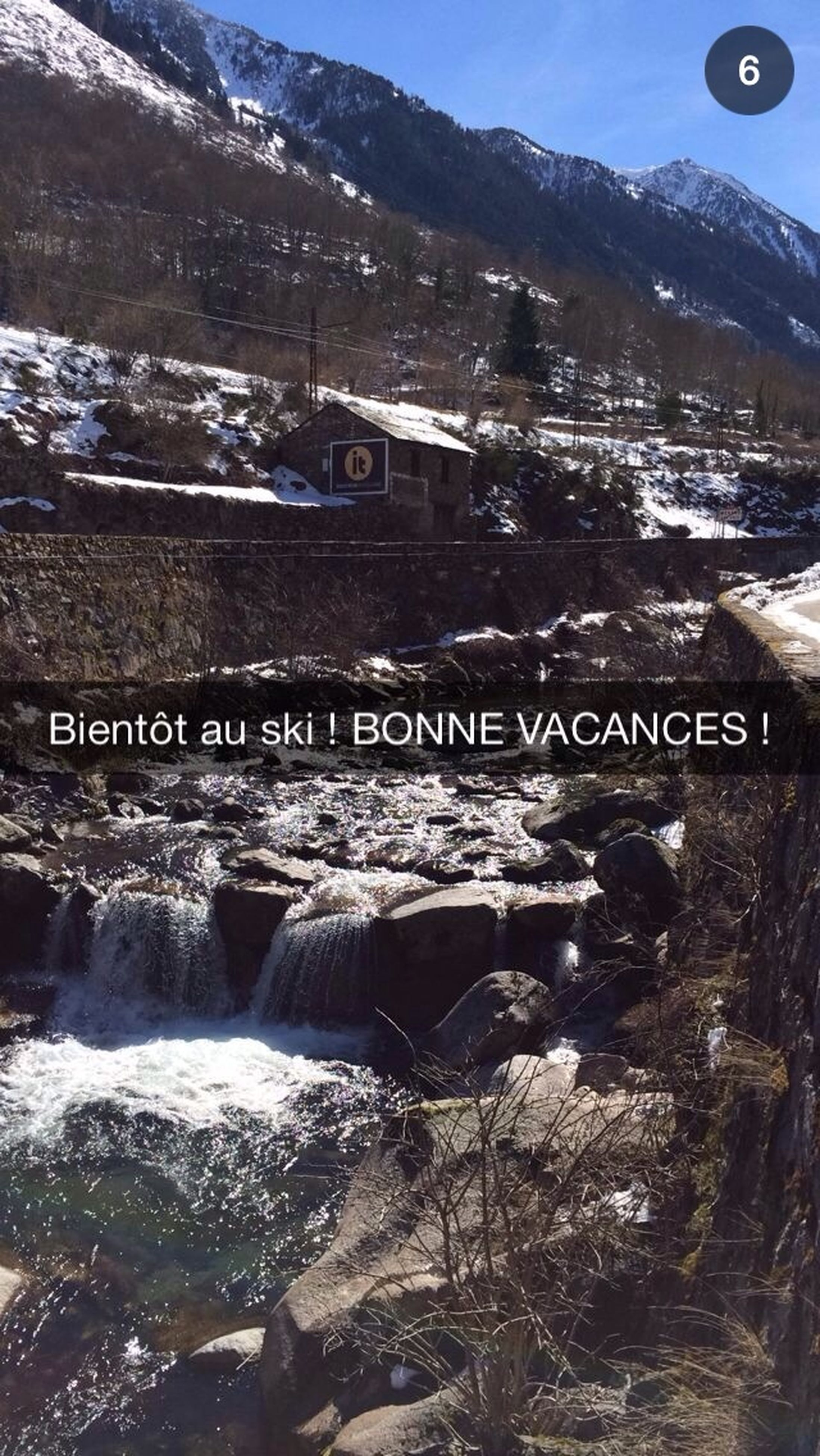 mountain, text, western script, mountain range, communication, water, river, nature, scenics, rock - object, snow, beauty in nature, day, landscape, winter, outdoors, tranquility, tranquil scene, sign, cold temperature