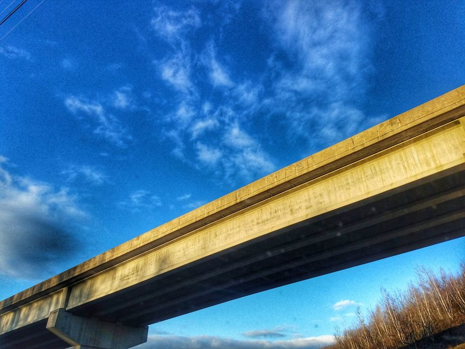 Sky Architecture Low Angle View Built Structure Connection Cloud - Sky No People Day Outdoors Bridge - Man Made Structure Overpass Bridge