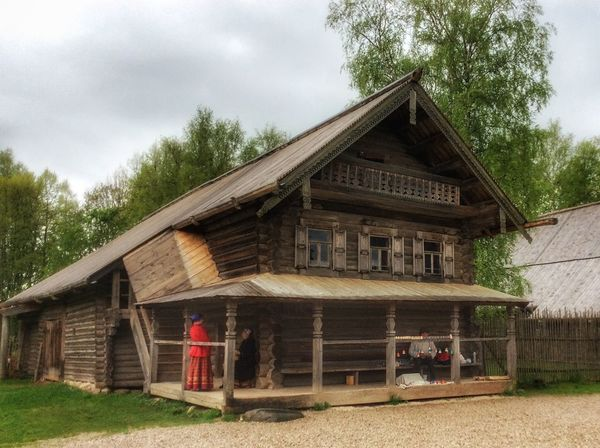 Architecture Building Exterior Built Structure Clothes Clouds Culture Ethnic Exterior Grey Sky Historic House Museum Old Outcast Outdoors Rainy Days Roof Rural Scenes Tree Typical Wood Wood - Material Wooden The Architect - 2016 EyeEm Awards
