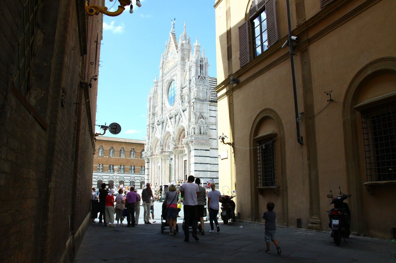 Duomo di Siena under the sun shine. Italy Cathedral Sunny