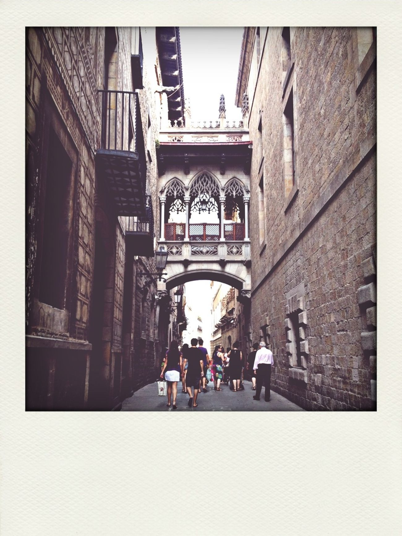 Walking Historical Building Barcelona Barri El Born