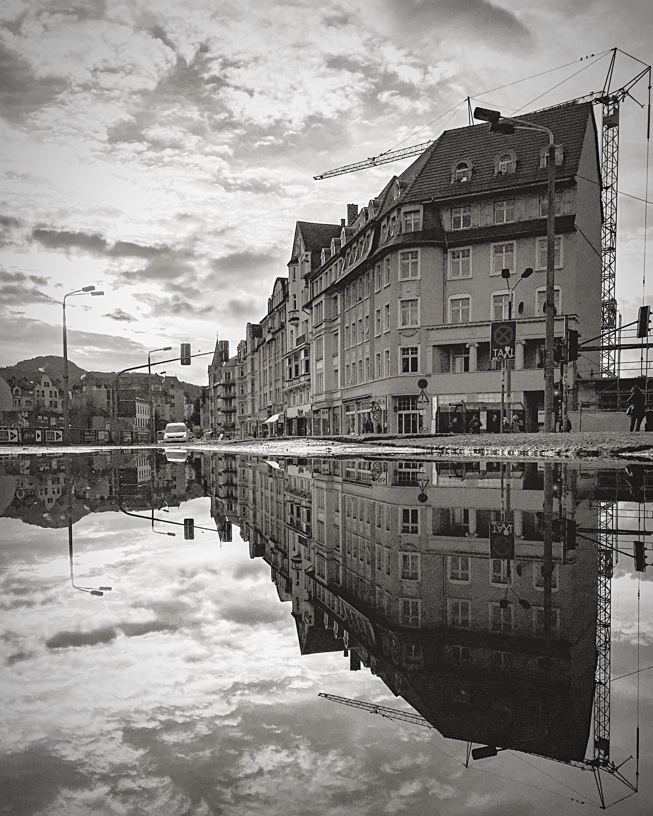 Monochrome Photography Architecture Architecture_collection Monochrome Architecture Built Structure Puddle Puddleography Puddle Reflections Reflctions Thuringen
