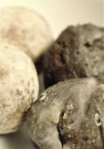 Donut holes Close-up Food Indoors  No People Snack Food Sugar Coated Sweet Eates Two Different Kinds